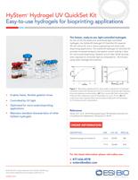 ESI BIO HyStem UV Hydrogel Product Sheet